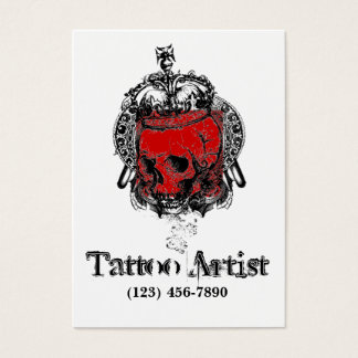 Skull Tattoo Artist Business Card