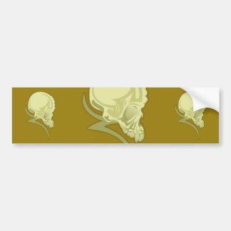 Skull Tattoo Car Bumper Sticker