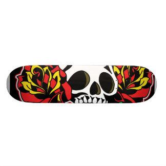 skull tattoo deck skate deck