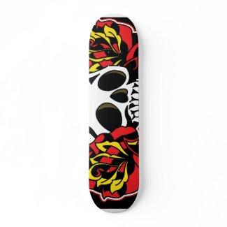 skull tattoo deck skateboard