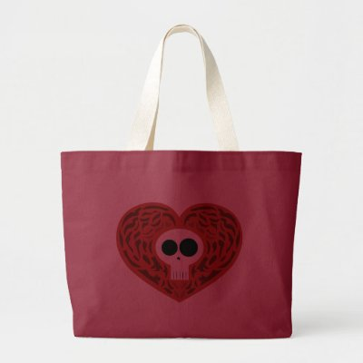 Skull Tattoo Heart Bag by