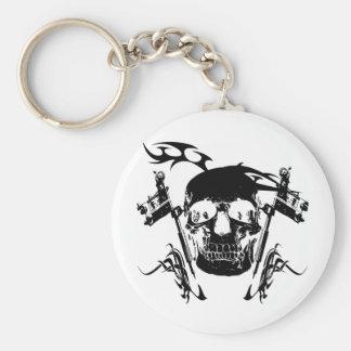 Skull Tattoo Keychain