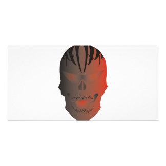 Skull Tattoo Personalized Photo Card