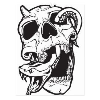 Skull Tattoo Postcard
