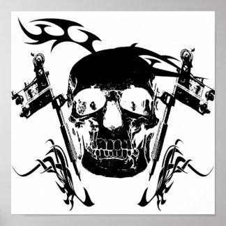 Skull Tattoo Poster