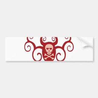 Skull Tattoo Scroll Bumper Sticker