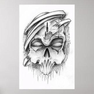 Skull Tattoo Sketch Poster