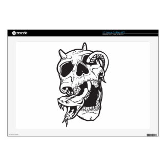 Skull Tattoo Laptop Decal