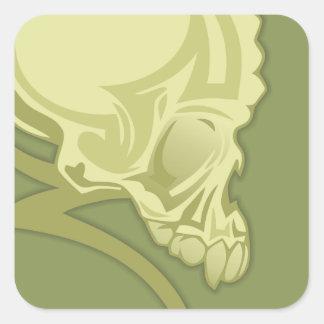 Skull Tattoo Square Stickers