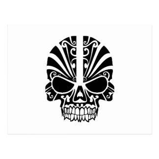 Skull Tattoo Tribal Postcard