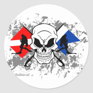 SKULL TECH DIVER CLASSIC ROUND STICKER