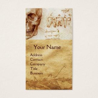SKULL,TEETH,DENTAL CLINIC,DENTIST MONKEY AND CAT BUSINESS CARD