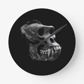 Skull the gorillas. round clock