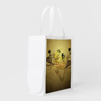 Skull the word grocery bag