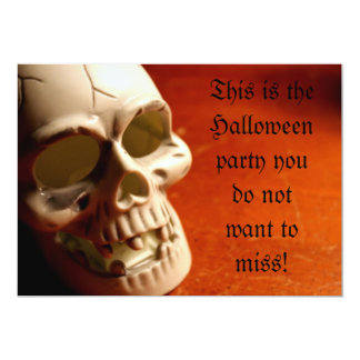 Skull, This is the Halloween party you do not w... Card
