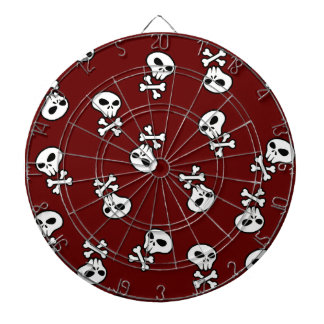 skull tile dartboard with darts