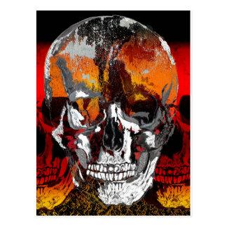 Skull times three postcard