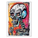 Skull Tiny Earth Greeting Card