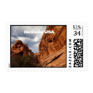 Skull to the Left; Nevada Souvenir Postage