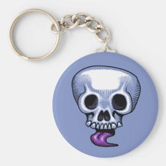 Skull Tongue Keychain