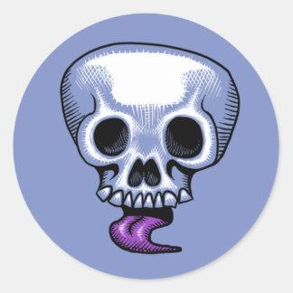 Skull Tongue Sticker