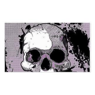 skull.toony enrrollado tarjetas de visita