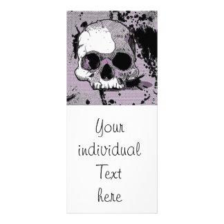 skull.toony enrrollado diseño de tarjeta publicitaria