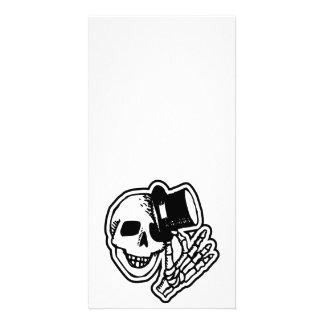 Skull Top Hat Gentleman B&W Photo Card Template