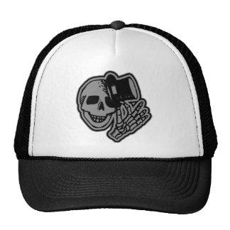 Skull Top Hat Gentleman Grey