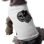 Skull Top Hat Gentleman Grey Dog Clothing