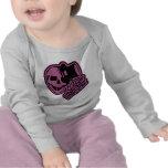 Skull Top Hat Gentleman Pink Shirts