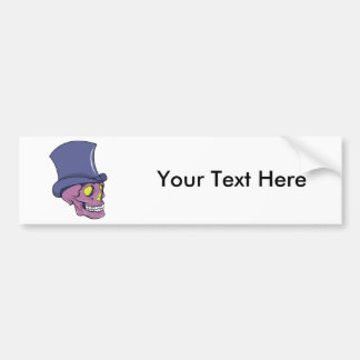 Skull ~ Top Hat Tattoo Skull Fantasy Art Bumper Stickers