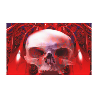 Skull Transfusion Stretched Canvas Prints