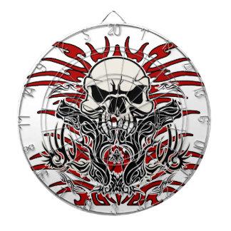 Skull tribal dart board