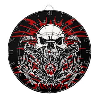 Skull tribal dartboard