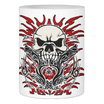 Skull tribal flameless candle