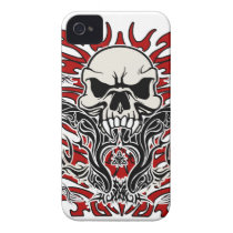 Skull tribal iPhone 4 Case-Mate case
