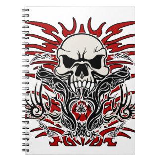Skull tribal notebook