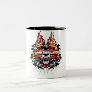 Skull Tribal Two-Tone Coffee Mug