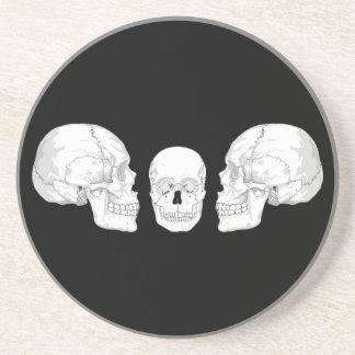 Skull Trio Drink Coasters
