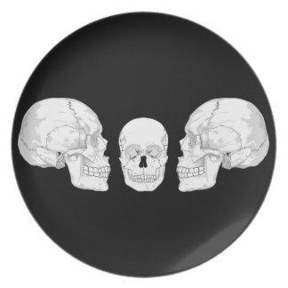 Skull Trio Party Plate