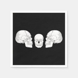 Skull Trio Standard Cocktail Napkin
