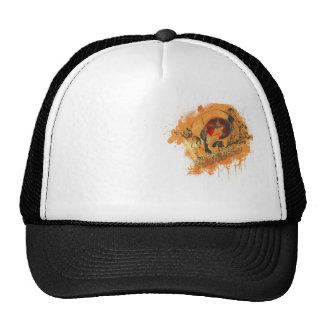 Skull troubador trucker hat