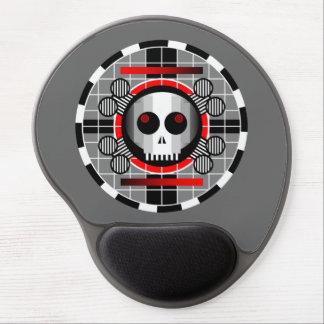 Skull TV Round gel mousepad grey