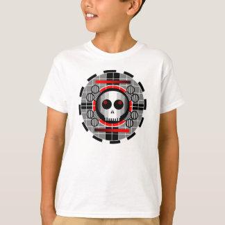 Skull TV Round t-shirt kids' basic white