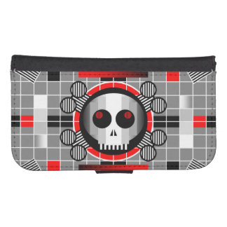 Skull TV Samsung Galaxy S4 wallet case