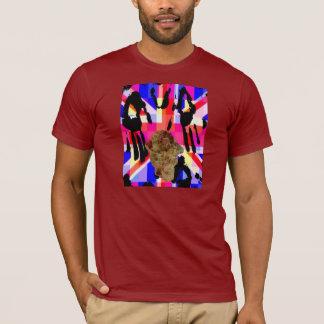 Skull Union Jack Flag Pop Art T-Shirt