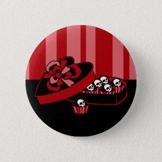 Skull Valentine Candy Button