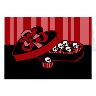Skull Valentine Candy Greeting Card