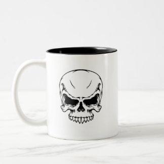 Skull_vector_10 Two-Tone Coffee Mug